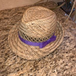 Girls Disney Fedora Straw Hat
